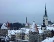 Noël à Tallinn sous la neige
