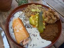Praetud Lõhe metsaseenekastmega = Saumon grillé avec des champignons forestiers !!! Un délice